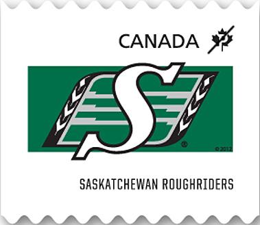 Saskatchewan Roughriders Canada Postage Stamp | CFL Teams