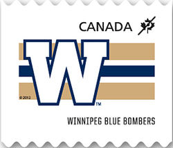 Winnipeg Blue Bombers Canada Postage Stamp | CFL Teams