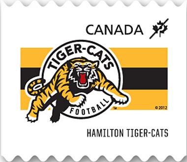 Hamilton Tiger-Cats Canada Postage Stamp   CFL Teams