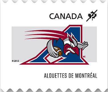 Montreal Alouettes Canada Postage Stamp | CFL Teams