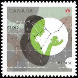 Signs of the Zodiac: Virgo Canada Postage Stamp | Signs of the Zodiac
