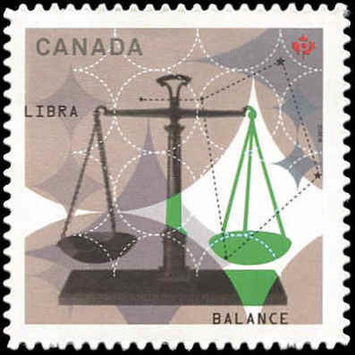Signs of the Zodiac: Libra Canada Postage Stamp