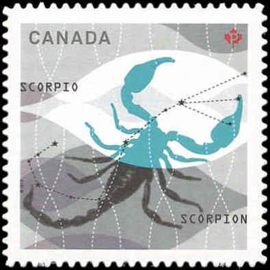 Signs of the Zodiac: Scorpio Canada Postage Stamp | Signs of the Zodiac