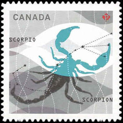 Signs of the Zodiac: Scorpio Canada Postage Stamp | Signs of the Zodiac