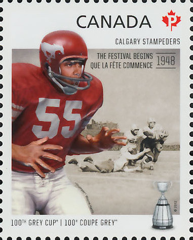 Calgary Stampeders - The Festival Begins 1948 Canada Postage Stamp