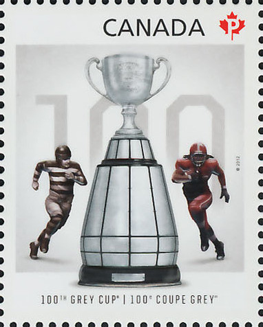 100th Grey Cup Game Canada Postage Stamp | 100th Grey Cup Game