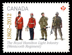 The Royal Hamilton Light Infantry (Wentworth Regiment) (1862 - 2012) Canada Postage Stamp | The Regiments