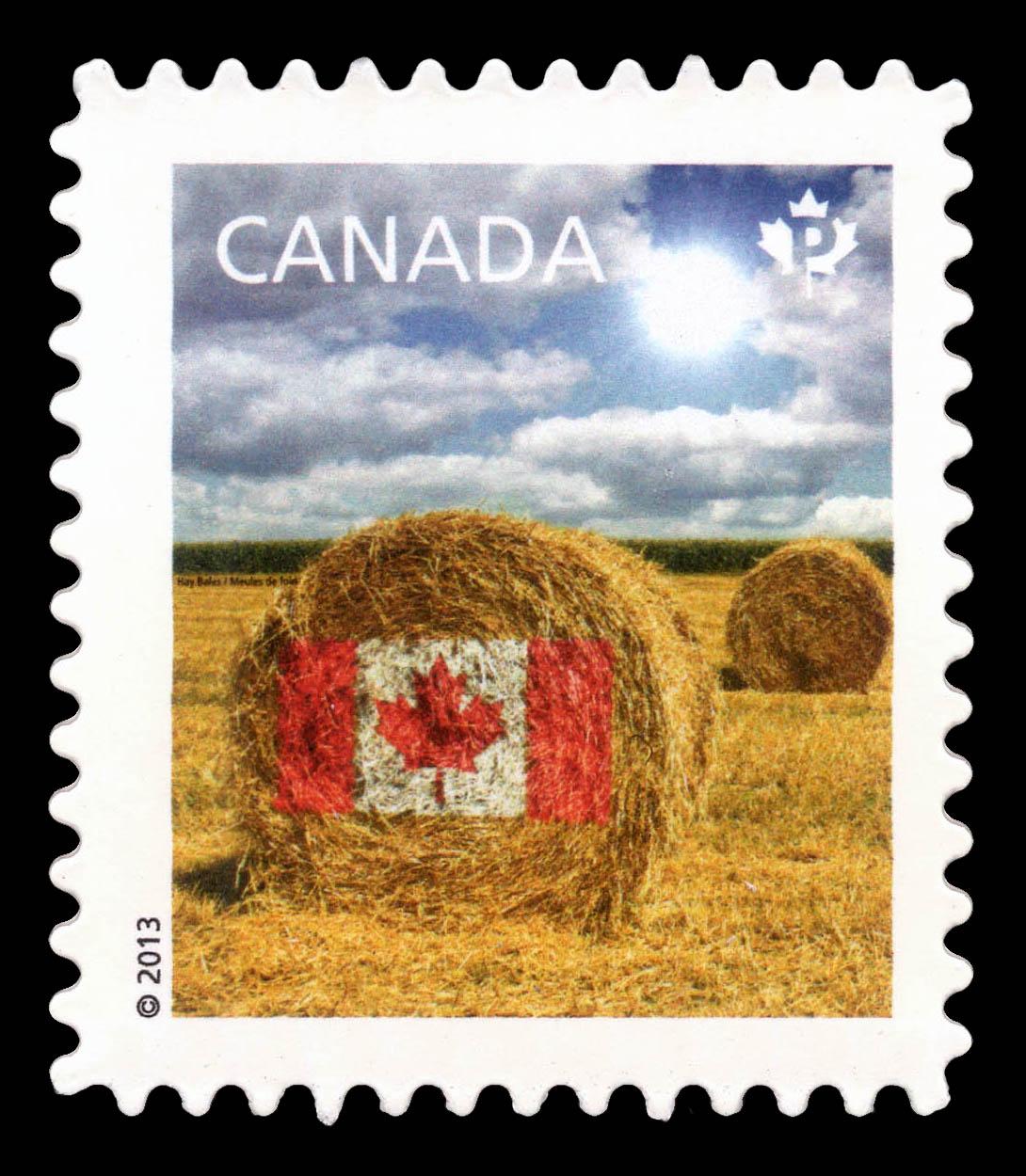 Prairie Hay Bale Flag Design Canada Postage Stamp | Canadian Pride - Definitives