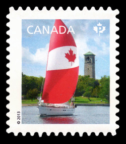 Spinnaker Flag Design Canada Postage Stamp | Canadian Pride - Definitives