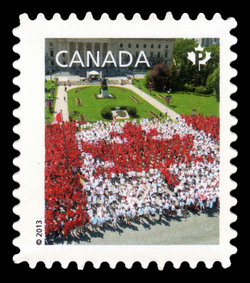 Canada Day Living Flag Canada Postage Stamp | Canadian Pride - Definitives