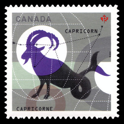 Signs of the Zodiac: Capricorn Canada Postage Stamp | Signs of the Zodiac