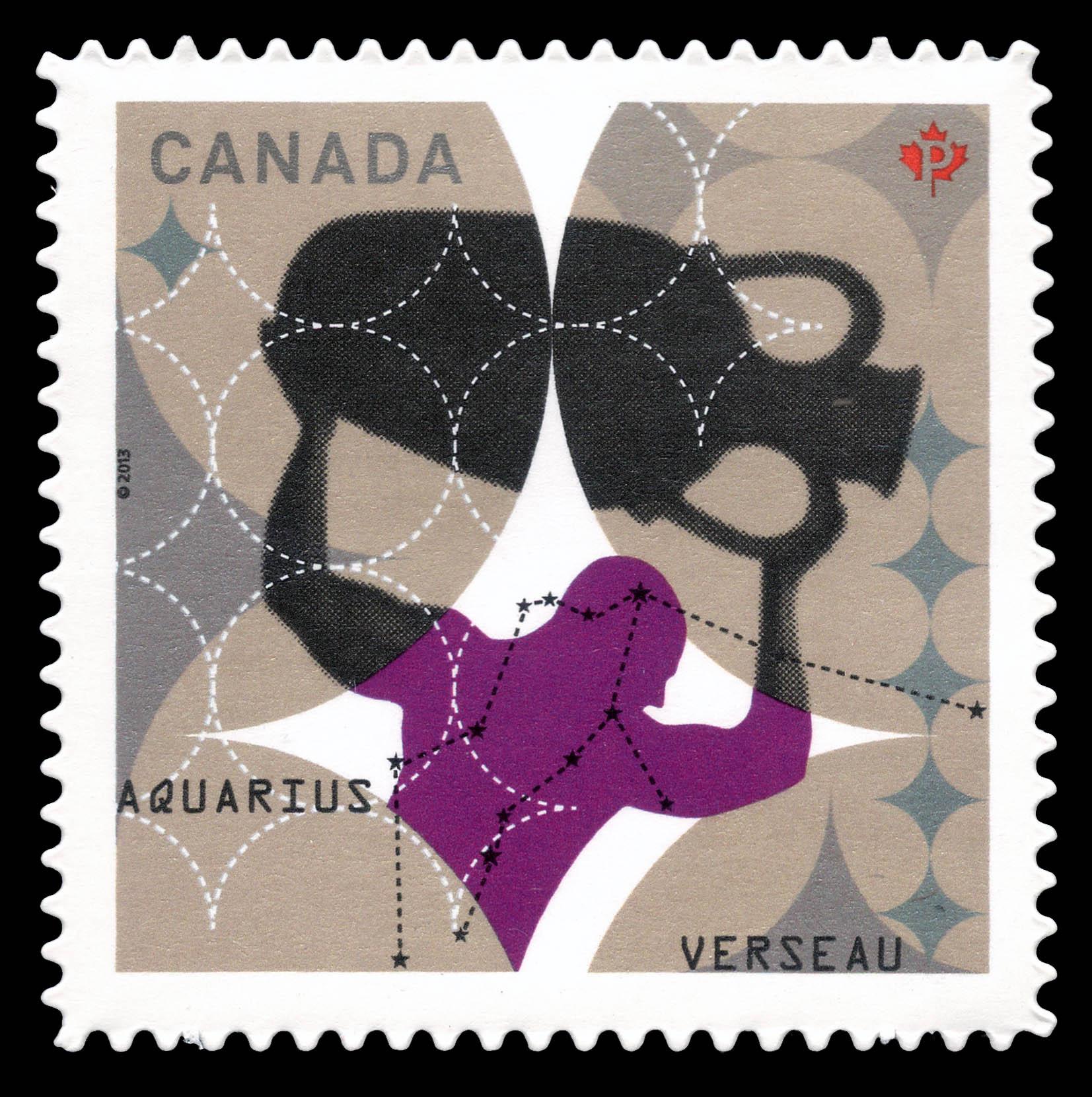 Signs of the Zodiac: Aquarius Canada Postage Stamp | Signs of the Zodiac