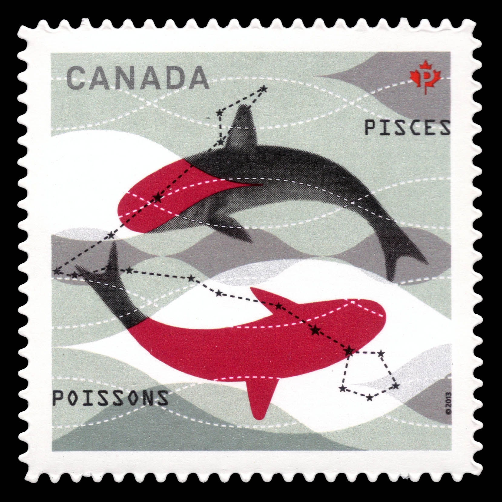 Signs of the Zodiac: Pisces Canada Postage Stamp | Signs of the Zodiac