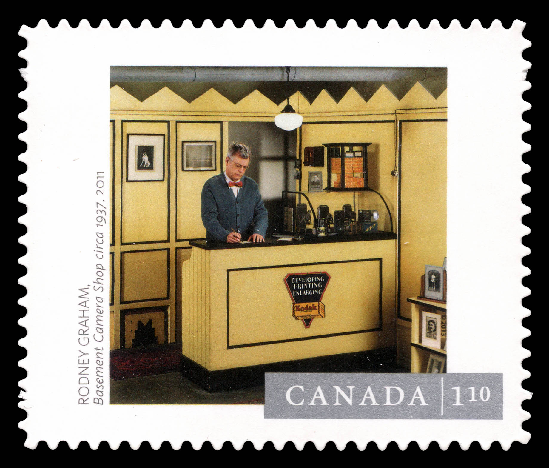 """""""Basement Camera Shop"""" Photograph Canada Postage Stamp 