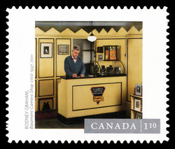"""Basement Camera Shop"" Photograph Canada Postage Stamp 