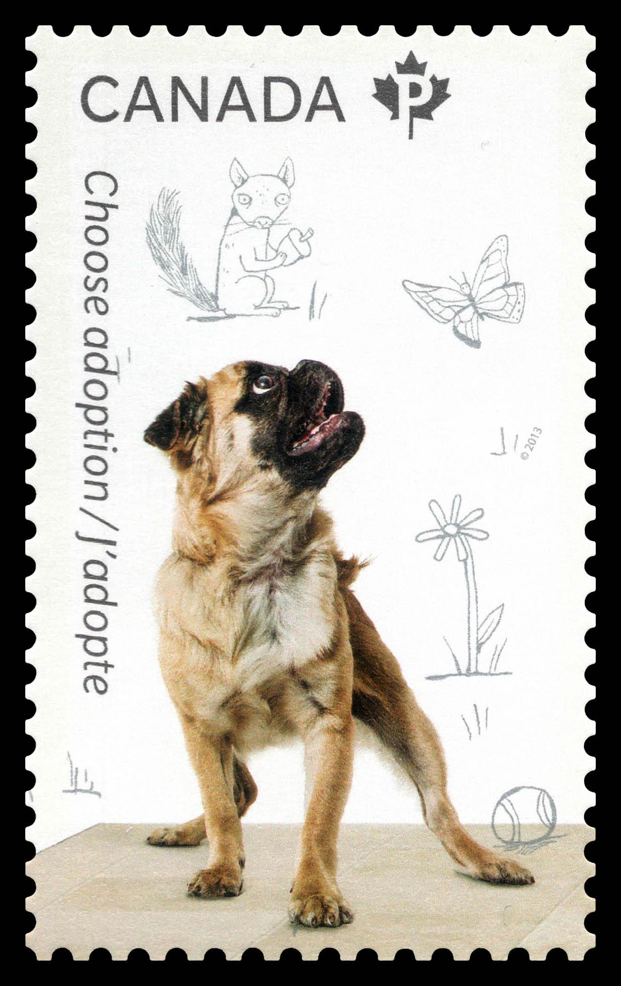 Adopt a Dog Canada Postage Stamp