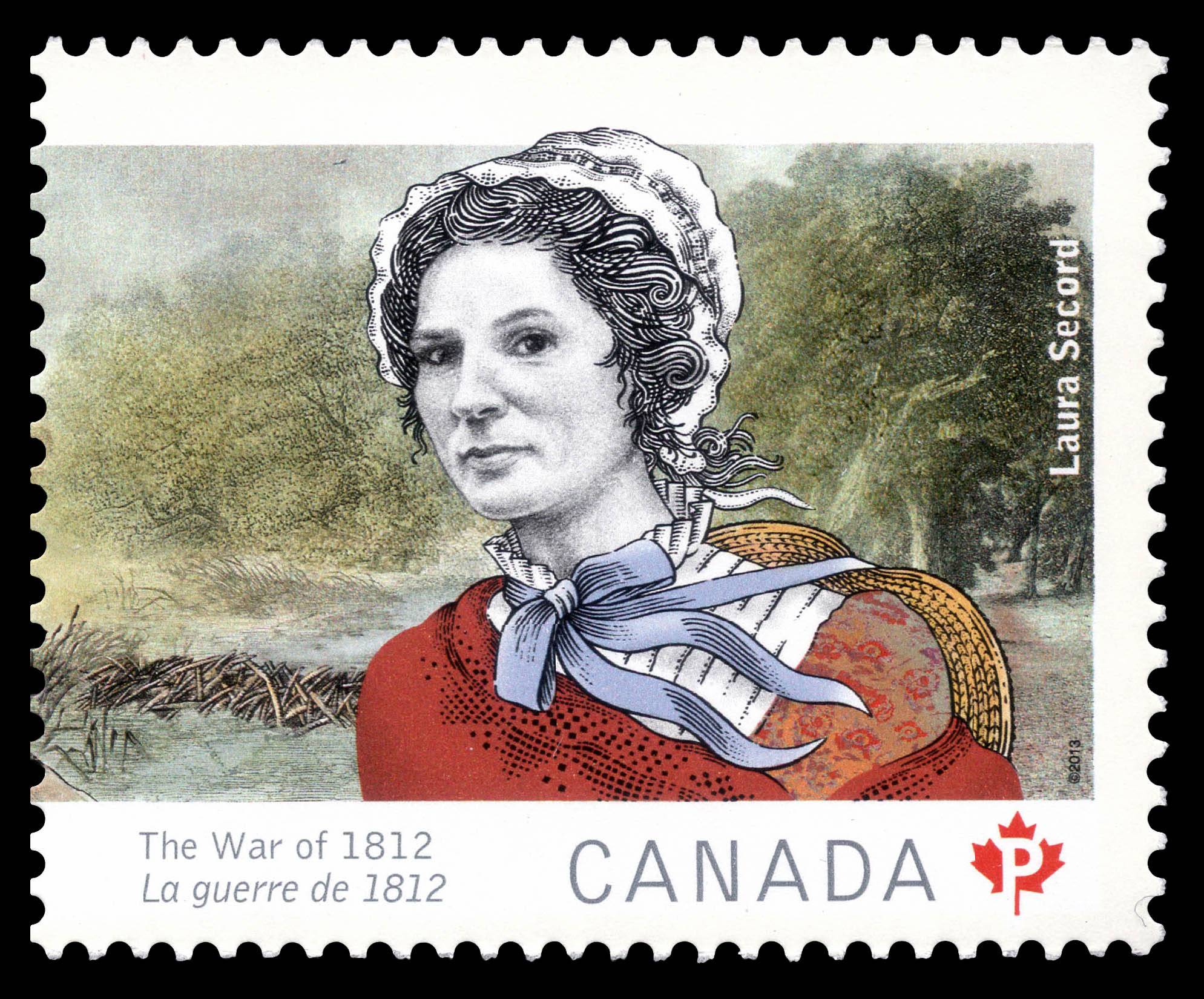 LauraSecord Canada Postage Stamp   The War of 1812
