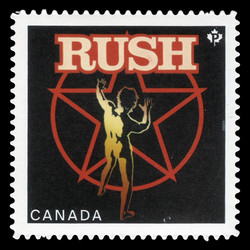 Rush Canada Postage Stamp | Canadian Recording Artists