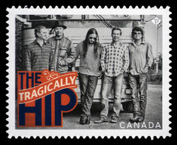 The Tragically Hip Canada Postage Stamp | Canadian Recording Artists