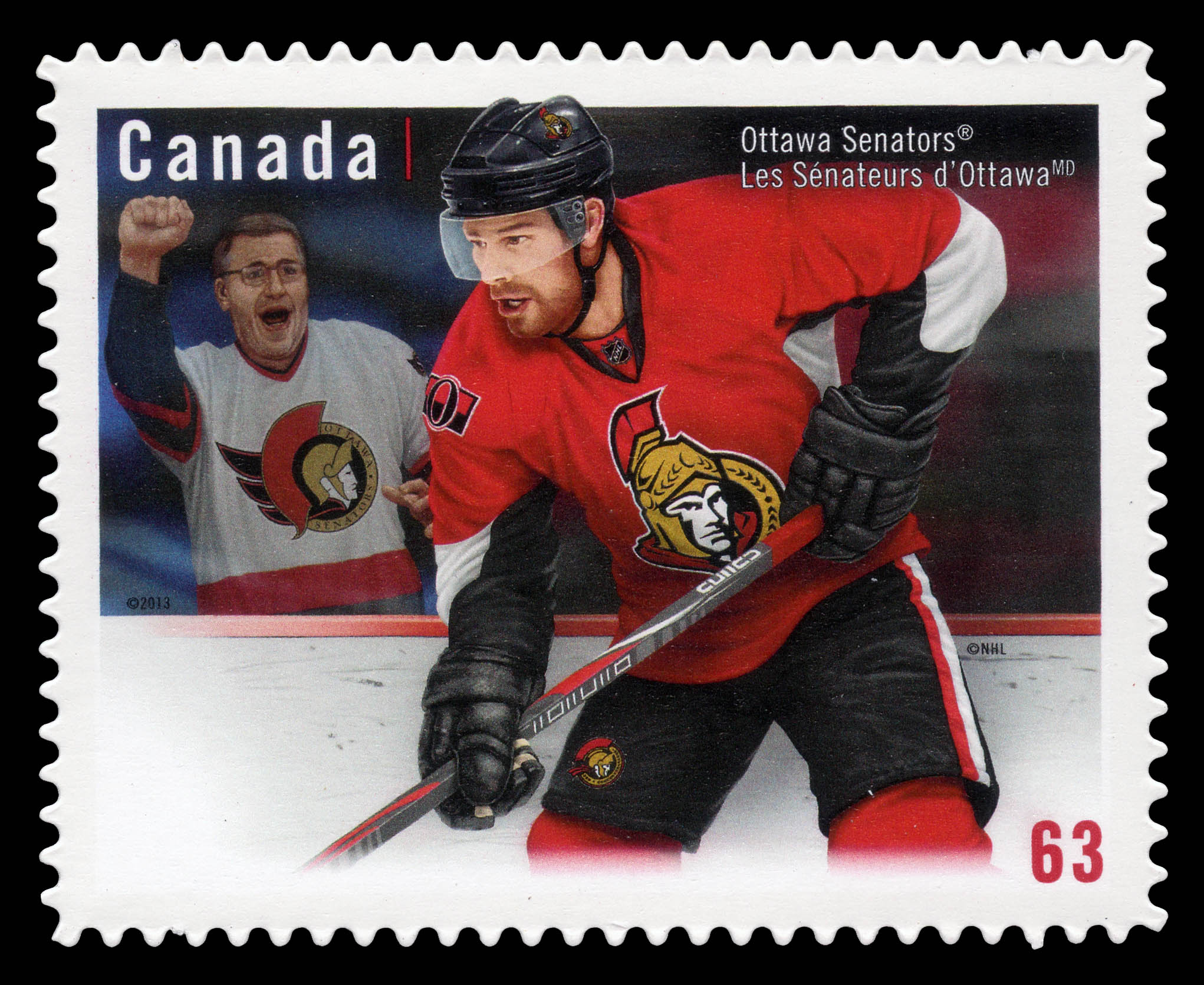 Ottawa Senators Canada Postage Stamp