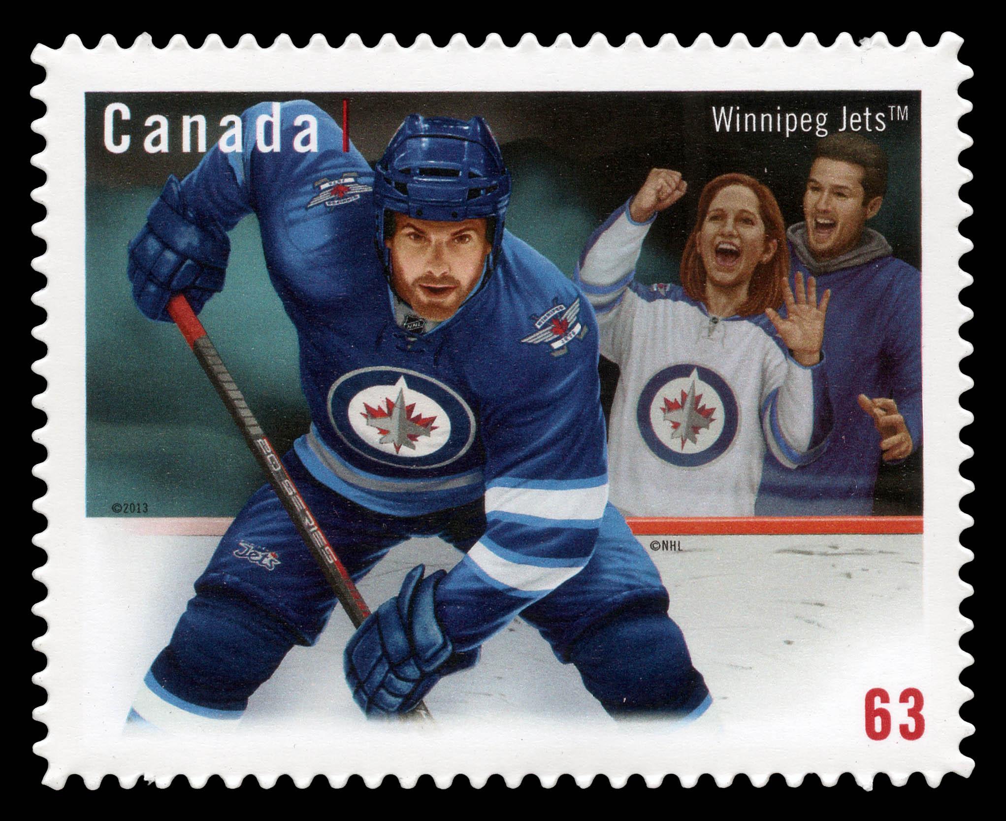 Winnipeg Jets Canada Postage Stamp | NHL® Team Jerseys