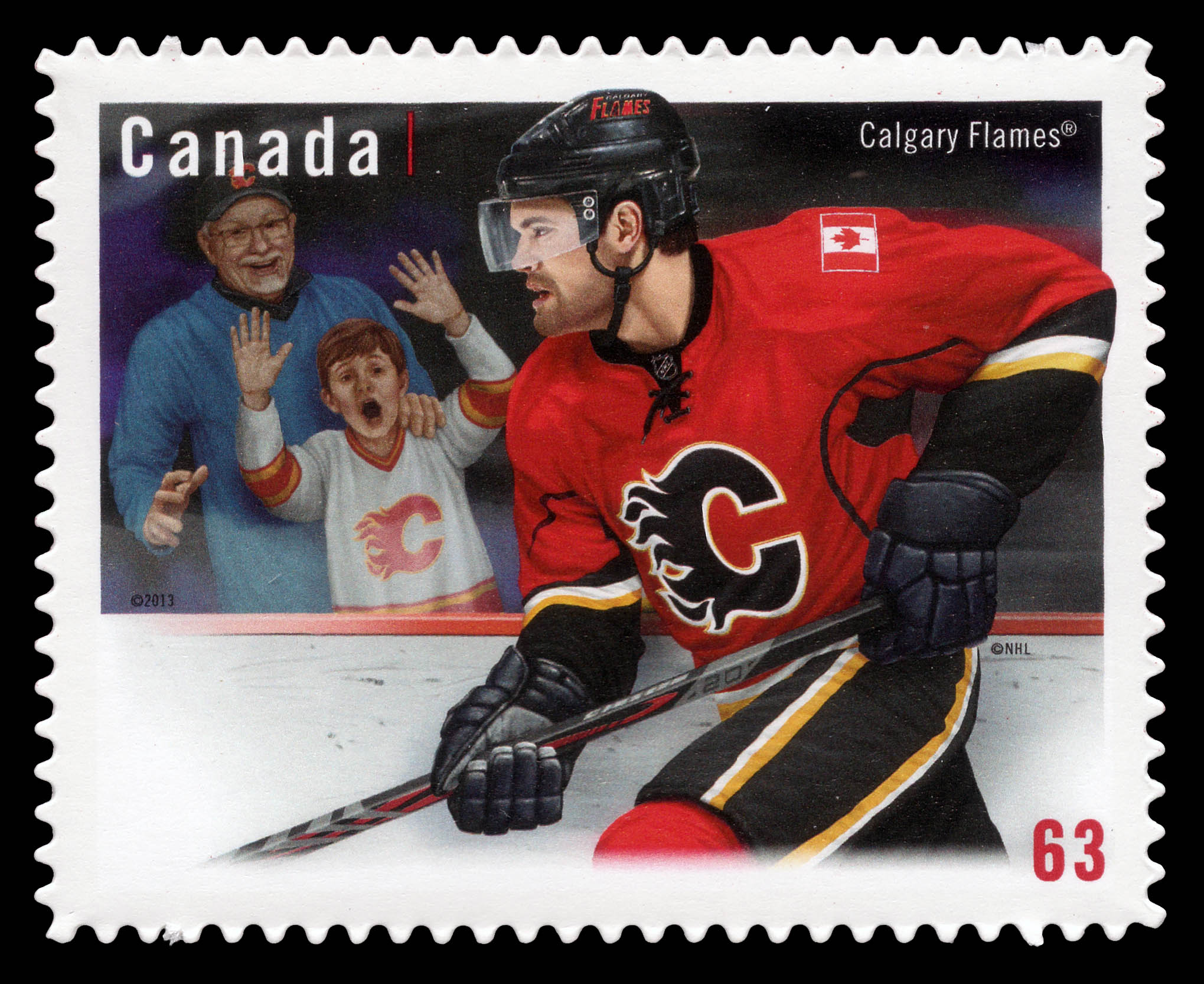 Calgary Flames Canada Postage Stamp | NHL® Team Jerseys