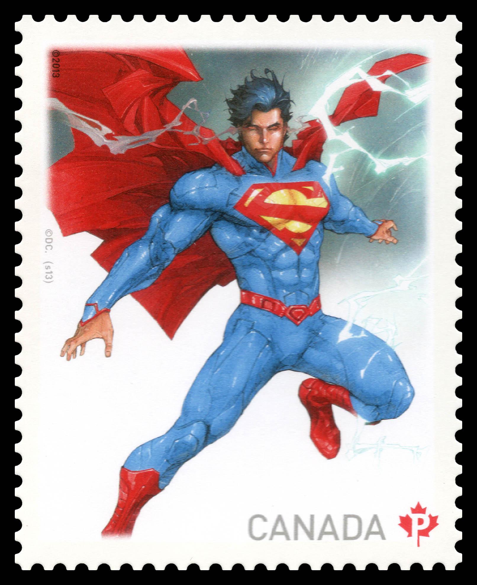 Superman Canada Postage Stamp | Superman - 75thAnniversary