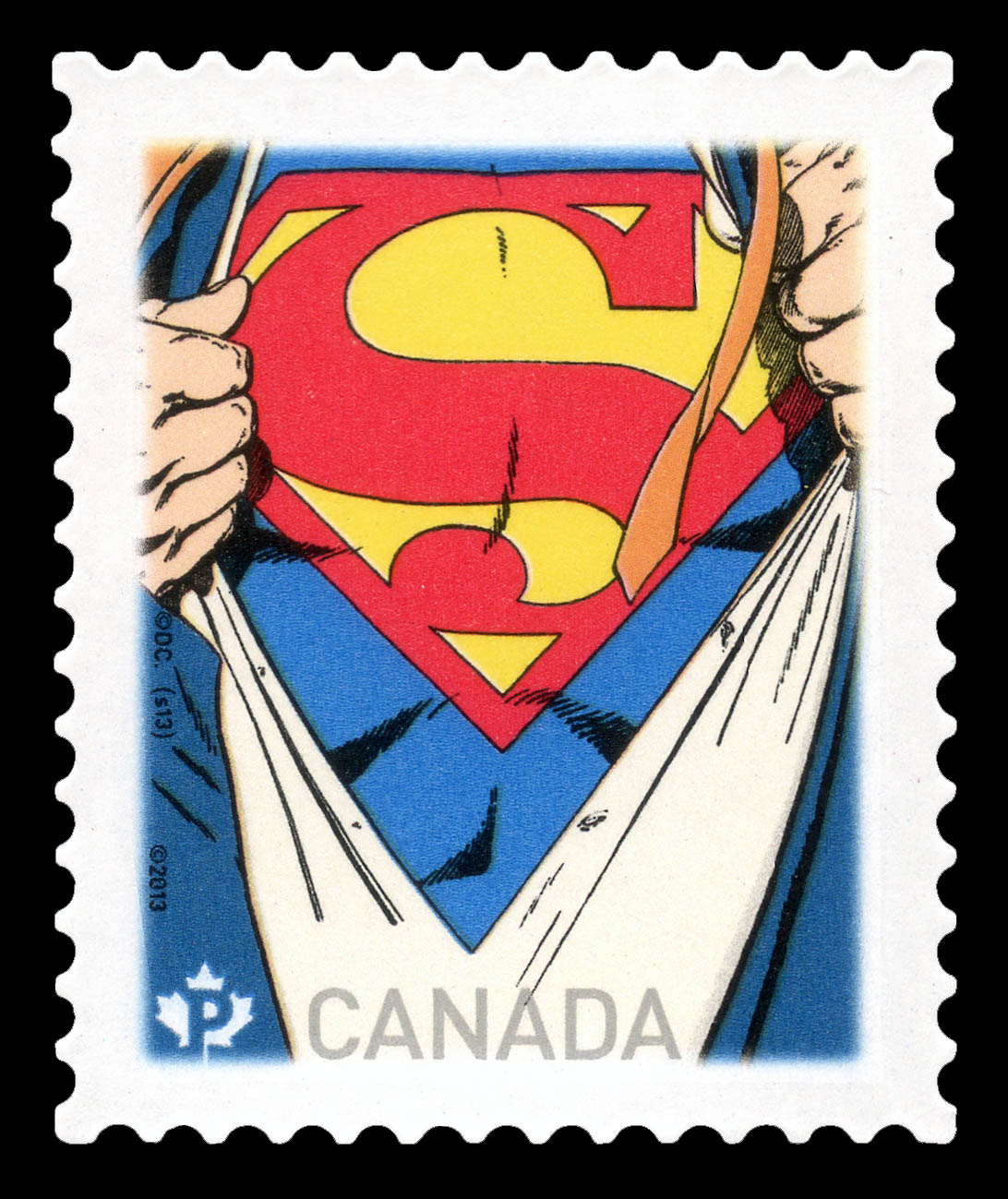 Superman Canada Postage Stamp | Superman - 75th Anniversary