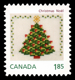 Christmas Tree - Cross-stitch Canada Postage Stamp | Christmas Crafts