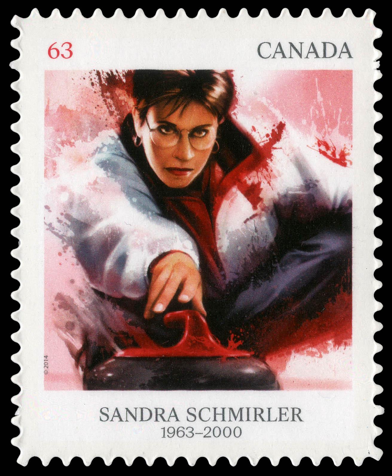 Sandra Schmirler Canada Postage Stamp | Pioneers of Winter Sports