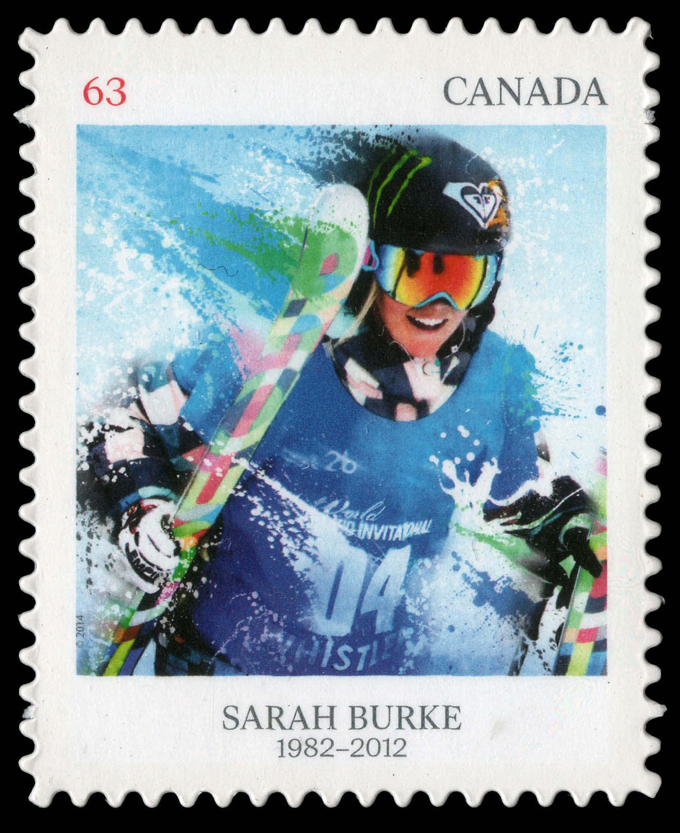 Sarah Burke Canada Postage Stamp | Pioneers of Winter Sports
