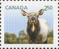 Wapiti (Elk) - Baby Wildlife Canada Postage Stamp