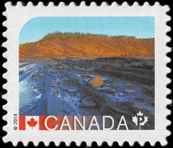 Joggins Fossil Cliffs - Nova Scotia Canada Postage Stamp | UNESCO World Heritage Sites in Canada
