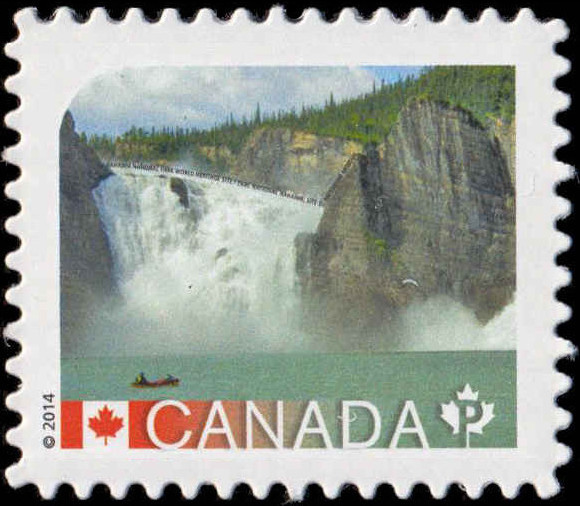Nahanni National Park World Heritage Site - North West Territories Canada Postage Stamp | UNESCO World Heritage Sites in Canada