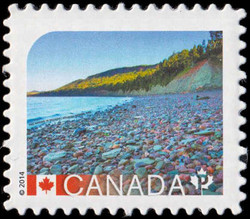 Miguasha National Park - Quebec Canada Postage Stamp | UNESCO World Heritage Sites in Canada