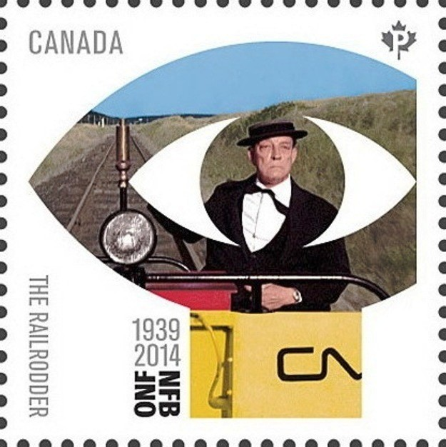 """""""The Railrodder"""" (1965) by Gerald Potterton Canada Postage Stamp 