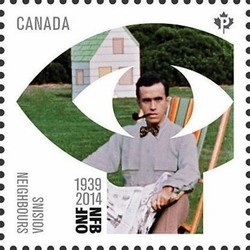 """Neighbours"" (1952) by Norman McLaren Canada Postage Stamp 