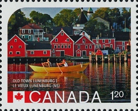 The Old Town of Lunenburg, Nova Scotia Canada Postage Stamp   UNESCO World Heritage Sites inCanada