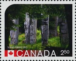 SGang Gwaay, British Columbia Canada Postage Stamp | UNESCO World Heritage Sites inCanada