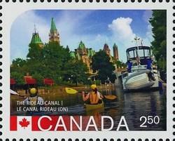 The Rideau Canal, Ontario Canada Postage Stamp | UNESCO World Heritage Sites inCanada