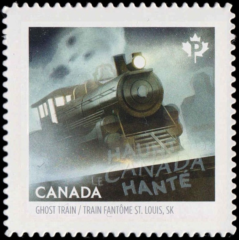 The St. Louis Ghost Train Canada Postage Stamp | Haunted Canada
