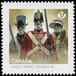 Haunted Fort George Canada Postage Stamp