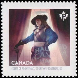 The Fairmont Le Chateau Frontenac Ghost - Louis de Buade Canada Postage Stamp | Haunted Canada