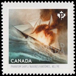 The Phantom Ship of Northumberland Strait Canada Postage Stamp | Haunted Canada