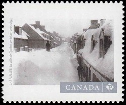 "Louis-Prudent Vallee's ""Quebec City in Winter"" (1894) Canada Postage Stamp 