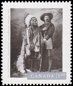"William Notman's ""Sitting Bull and Buffalo Bill, Montreal"" (1885) Canada Postage Stamp 