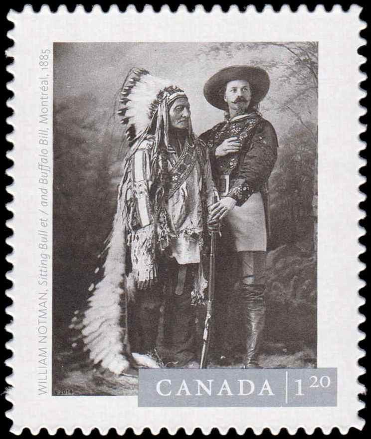 """William Notman's """"Sitting Bull and Buffalo Bill, Montreal"""" (1885) Canada Postage Stamp 