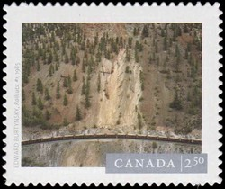 "Edward Burtynsky's ""Railcuts #1"", (1985) Canada Postage Stamp 