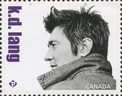 Kathryn Dawn Lang Canada Postage Stamp | Canadian Country Artists