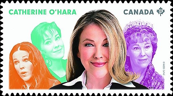 Catherine O'Hara Canada Postage Stamp   Great Canadian Comedians